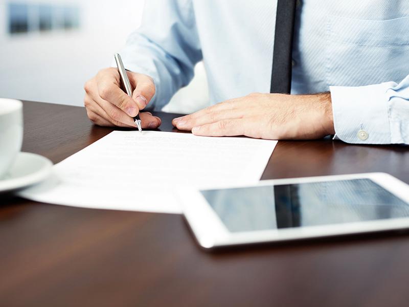 Signer un document.