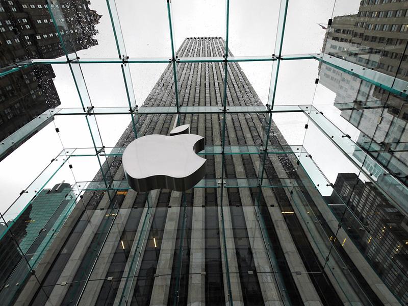 L'édifice Apple Store à New York.